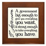 Jefferson Big Government Framed Tile