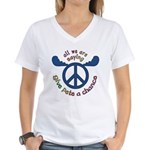 Give Pete a Chance Women's V-Neck T-Shirt
