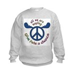 Give Pete a Chance Kids Sweatshirt