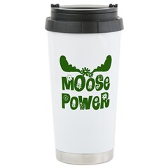 Moose Power Ceramic Travel Mug
