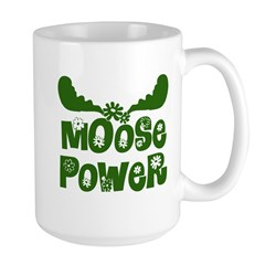 Moose Power Large Mug