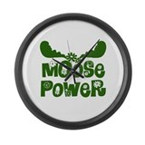 Moose Power Large Wall Clock