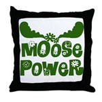 Moose Power Throw Pillow