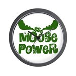 Moose Power Wall Clock