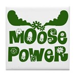 Moose Power Tile Coaster