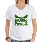 Moose Power Women's V-Neck T-Shirt