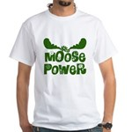 Moose Power White T-Shirt