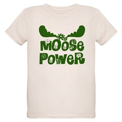 Moose Power Organic Kids T-Shirt