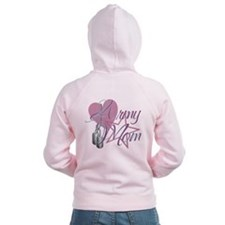 Army Mom Heart N Star Zip Hoodie