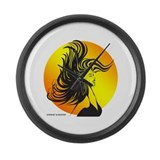 Wild Dance Girl Large Wall Clock
