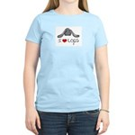 I Heart Lop Rabbits Women's Pink T-Shirt