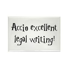 Accio excellent legal writing! Rectangle Magnet
