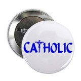 "CATHOLIC (Blue) 2.25"" Button (10 pack)"