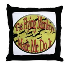 Flying Monkeys Throw Pillow