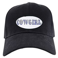 Ornate Cowgirl Blue Baseball Hat