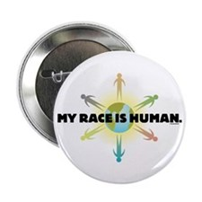 """My Race Is Human 2.25"""" Button (10 pack)"""