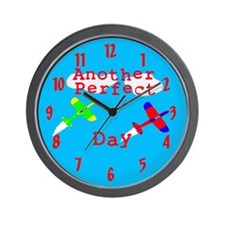 airplane perfect day Wall Clock