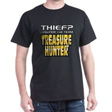 I Prefer Treasure Hunter Black T-Shirt