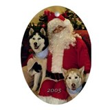 Sasha & Fox 2005 Oval Ornament