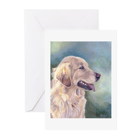Lovely Golden Retrievers Greeting Cards (Package o