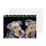Airedale Terriers Greeting Card