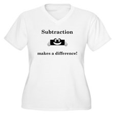 Subtraction makes a difference2 Plus Size T-Shirt