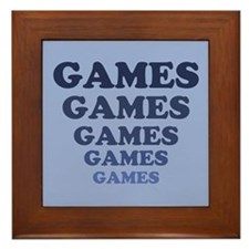 Games Framed Tile