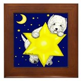 Westie Star Framed Tile
