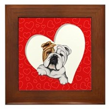 English Bulldog Lover Framed Tile