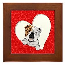 English Bulldog Lover Framed Tile