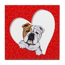 English Bulldog Lover Tile Coaster