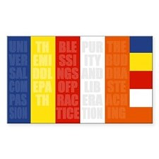 Buddhist Flag Decal