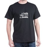 Micah 6:8 Walk Humbly with yo Black T-Shirt