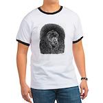 Black Poodle Ringer T