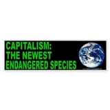 Capitalism endangered (sticker)
