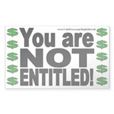 NOT Entitled (sticker)