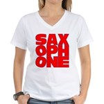 SAXOPHONE Women's V-Neck T-Shirt