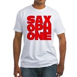 SAXOPHONE Fitted T-Shirt