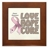 Cancer Awareness Framed Tile