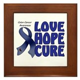 Colon Cancer Framed Tile