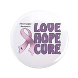 "Fibromyalgia Awareness 3.5"" Button"