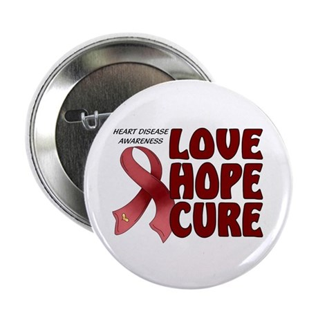 Heart Disease Awareness 2.25&amp;quot; Button (100 pack)