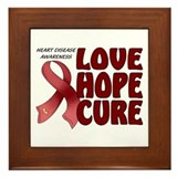 Heart Disease Awareness Framed Tile