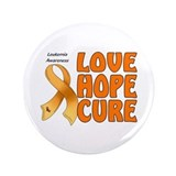 "Leukemia Awareness 3.5"" Button"