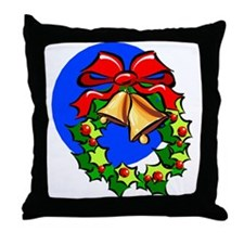 Xmas Bells Throw Pillow