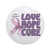 Lupus Awareness Ornament (Round)