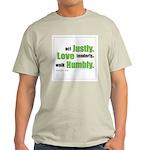 Micah 6:8 Walk Humbly with yo Ash Grey T-Shirt