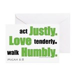 Micah 6:8 Walk Humbly with yo Greeting Cards (Pack