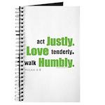 Micah 6:8 Walk Humbly with yo Journal