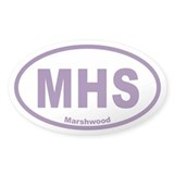 MHS Marshwood Euro Oval Stickers 50 Pack